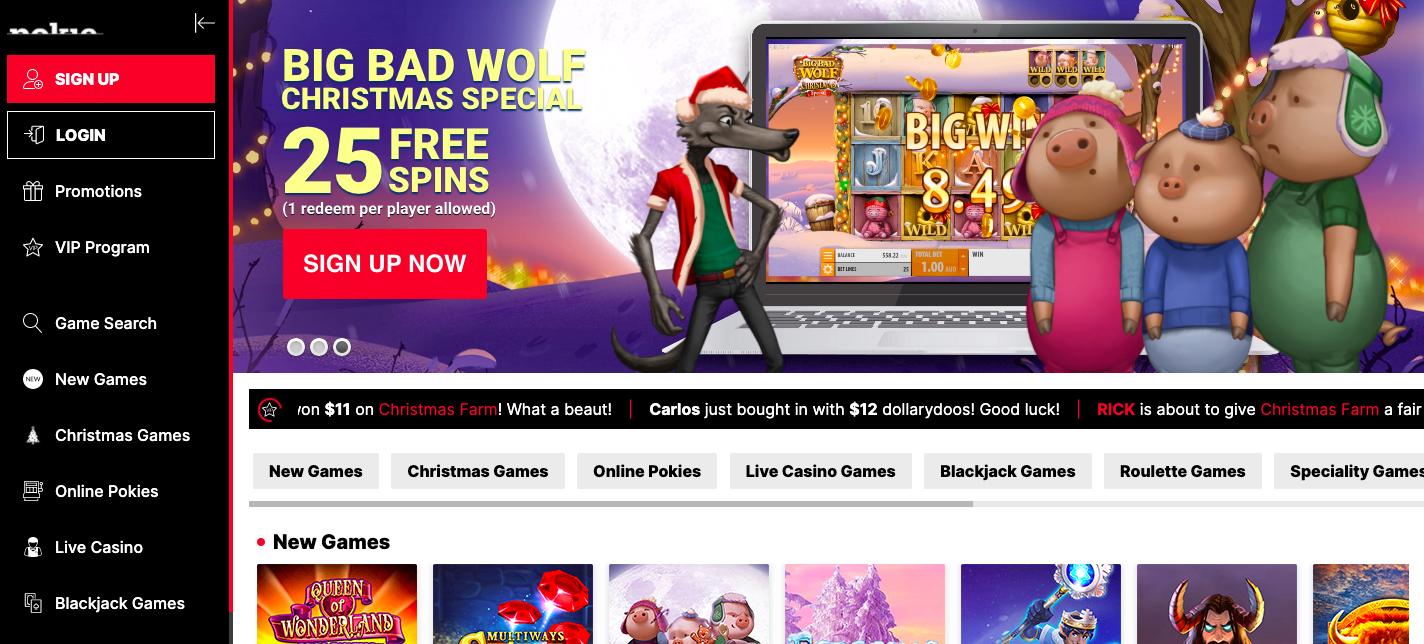 pokie place casino website screenshot