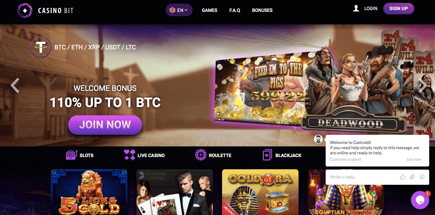 casinobit.io website screenshot