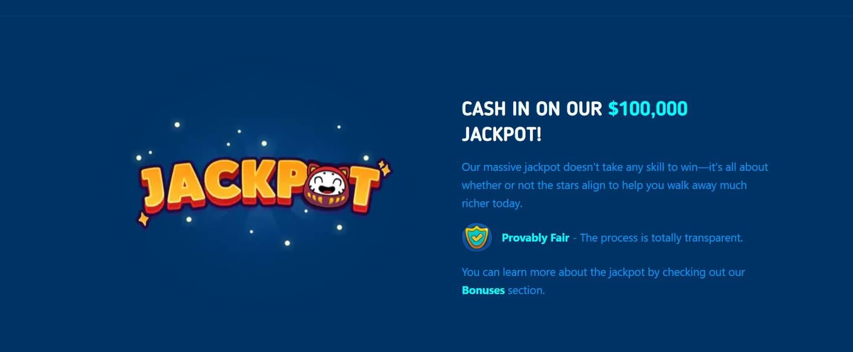luckydice website screenshot bitcoinfy