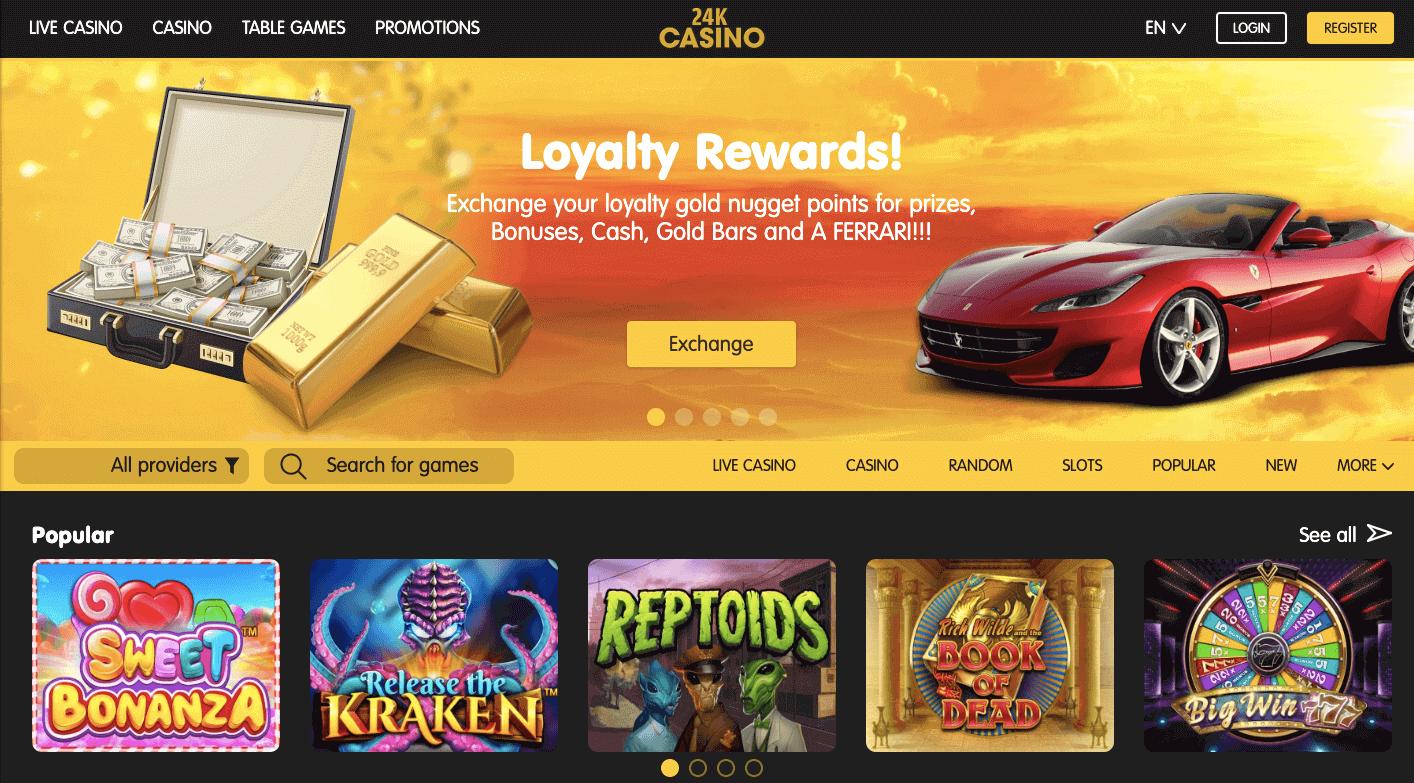 24K Casino Website