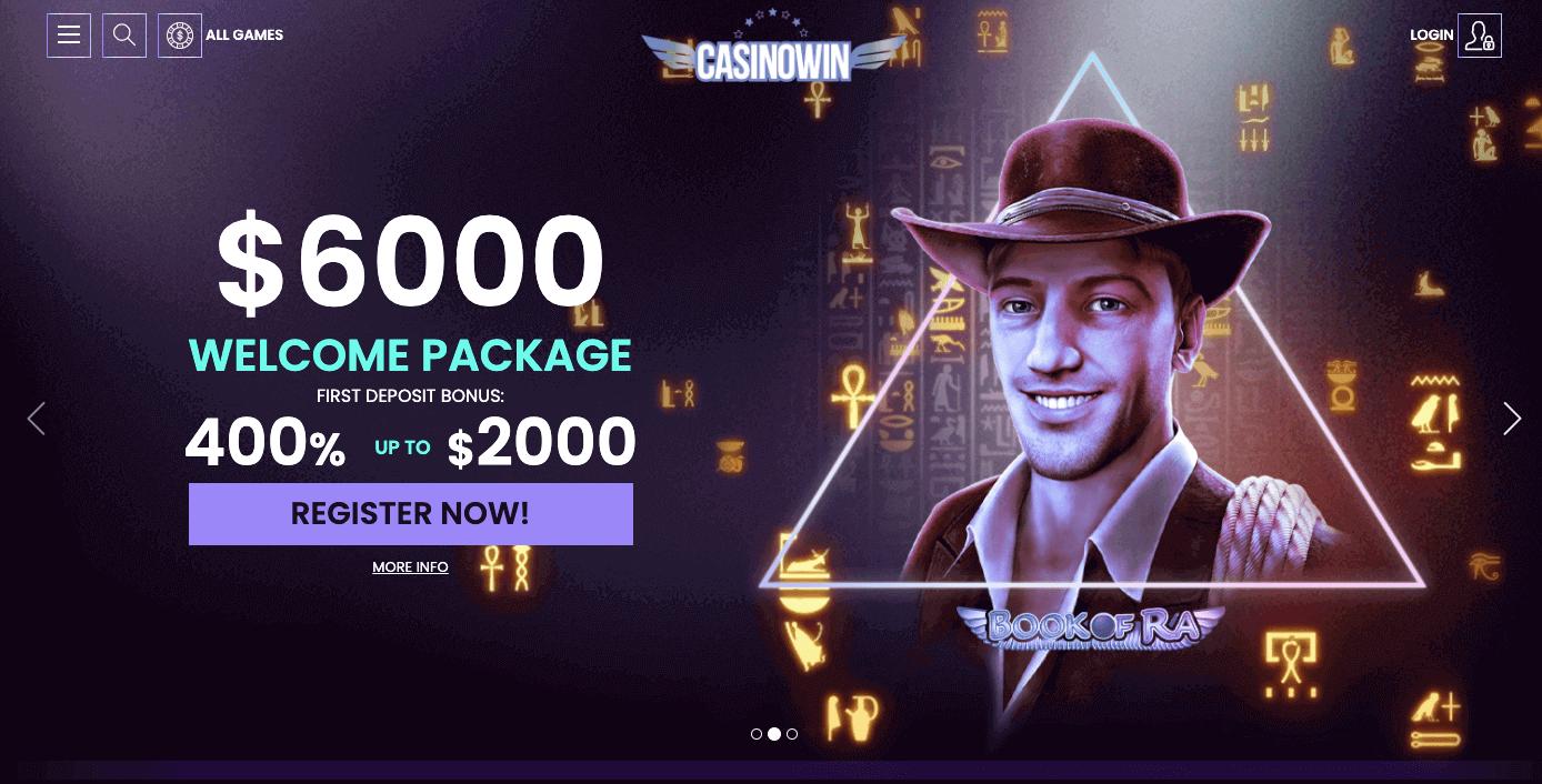 casinowin review screenshot image