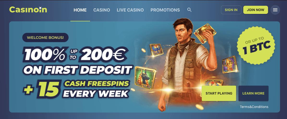 casinoin welcome bonus