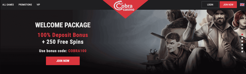 cobra casino welcome offer