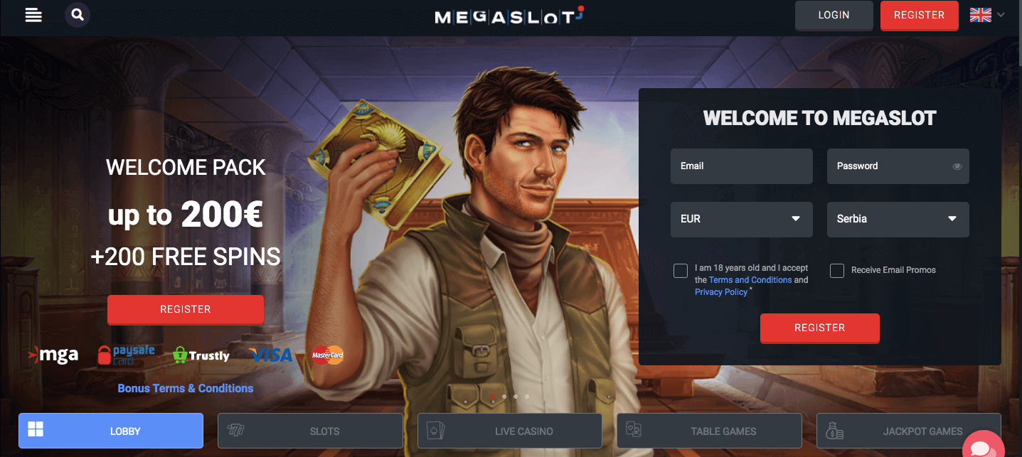 megaslot screenshot bitcoinfy